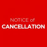 Notice of Cancellation