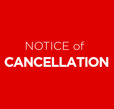 Notice of Cancellation